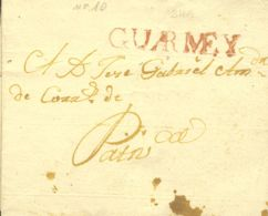 Perú. Sobre . (1818ca). HUARMEY A PATIVILCA. Marca GUARMEY, En Rojo (Colareta1). MAGNIFICA Y RARA. - Perú