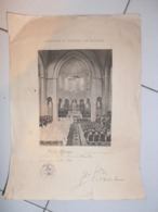 910Cr  Paroisse Saint Charles De Monceau Certificat De Communion 1936 Cachet - Diplomas Y Calificaciones Escolares