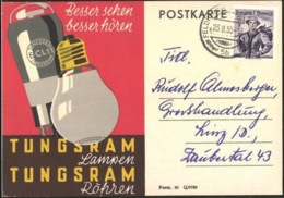 Old Postcard Electric Light Bulb Lamp - Elektrizität