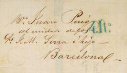 Chile. Sobre Yv . 1867. VALPARAISO (MEJICO) A BARCELONA. Circulada Por El Correo Británico Vía LONDON, Y Tasada A La Lle - Chile