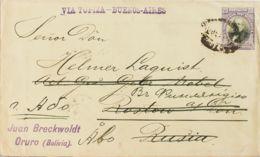 Bolivia, Entero Postal. Sobre Yv . 1904. 20 Ctvos Violeta Y Negro Sobre Entero Postal De ORURO (BOLIVIA) A ROSTOW (RUSIA - Bolivia