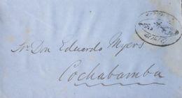 Bolivia. Sobre Yv . 1865. ORURO A COCHABAMBA (ligeras Manchitas De Humedad). Marca ORURO / FRANCA. BONITA. - Bolivia