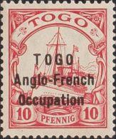 Togo. MH *Yv 56. 1915. 10 P Rojo. MANIFICO Y RARO. (Mi18 300 Euros). Firmado BOTHE BPP. - Togo (1960-...)