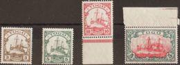 Togo. MNH **Yv 19A/22. 1909. Serie Completa. MAGNIFICA. (Mi20/23 130 Euros) - Togo (1960-...)