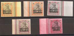 Marruecos, Oficina Alemana. MNH **Yv . 1900. 30 Cts Sobre 25 P, 35 Cts Sobre 30 P, 50 Cts Sobre 40 P, 60 Cts Sobre 50 P - Marruecos Español