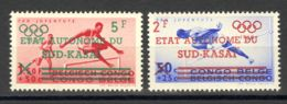 Congo Belga, Sud Kasai. MNH **Yv 18/19. 1961. Serie Completa. MAGNIFICA Y RARA. Yvert 2013: 140 Euros. - Congo - Brazzaville