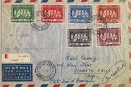 Congo Belga. Sobre Yv 344/49. 1958. Serie Completa. Certificado De BUKAVU A KLAMATH FALLS (USA). Al Dorso Llegada. MAGNI - Congo - Brazzaville