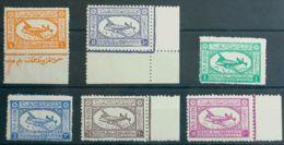 Arabia Saudita, Aéreo. MNH **Yv 1/6. 1949. Serie Completa. MAGNIFICA Y RARA SIN FIJASELLOS. Yvert 2011: 225 Euros. - Arabia Saudita