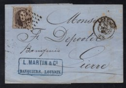 LOUVAIN - LEUWEN / 1865 PLI POUR LIERRE (ref 5351c) - 1863-1864 Medaillen (13/16)
