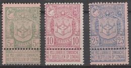 Belgie      .    OBP       .   68/70      .         **      .       Postfris  .   /   .    Neuf SANS Charniere - 1893-1907 Coat Of Arms