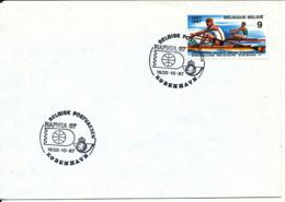 Belgium Cover With HAFNIA 87 Copenhagen Postmark - Belgique