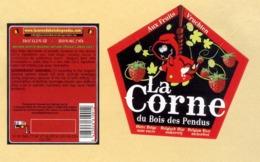 1 étiquette+CE Bière La Corne - Beer