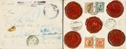 Yugoslavia. Sobre Yv 161, 163(2), 171. 1924. 2 D Verde, 5 D Castaño Rojo, Dos Sellos Y 50 P Sepia (franqueados Al Dorso) - Yugoslavia
