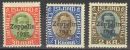 Islandia, Aéreo. MNH **Yv 9/11Yv . 1931. Serie Completa. MAGNIFICA. Yvert 2012: 230 Euros. - Islandia