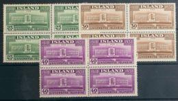 Islandia. MNH **Yv 168/70(4). 1938. Serie Completa, Bloque De Cuatro. MAGNIFICA. Yvert 2012: 144 Euros. - Islandia
