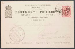 Finlandia, Entero Postal. Sobre Yv . 1899. 10 P Rosa Sobre Tarjeta Entero Posta De HELSINKI A BERLIN. En El Frente Llega - Finlandia