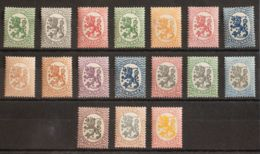 Finlandia. MNH/MH **/*Yv 66/82. 1918. Serie Completa. MAGNIFICA. Yvert 2014: 140 Euros. - Finlandia