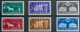 Luxemburgo. MH *Yv 443/48. 1951. Serie Completa. MAGNIFICA. Yvert 2013: 140 Euros. - Sin Clasificación