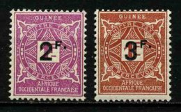 GUINEE FRANCAISE - YT TAXE 24 Et 25 ** - 2 TIMBRES NEUFS ** - Ungebraucht