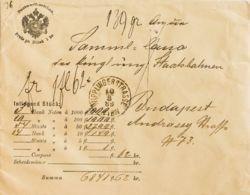 Austria. Sobre Yv . 1889. Valor Declarado De VIENA A BUDAPEST. Sobre Preimpreso POSTWERTHZEICHEN / PREIS PR. STÜCK 1 KR. - Austria
