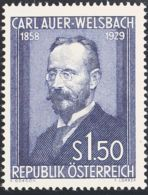 Austria. MNH **Yv 840. 1954. 1'50 S Azul. MAGNIFICO. Yvert 2011: 55 Euros. - Austria