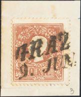 Austria. Fragmento Yv 9. 1858. 10 K Marrón, Sobre Fragmento. MAGNIFICO Y ESPECTACULAR. - Austria
