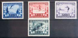 Austria. MH *Yv 426/29. 1933. Serie Completa. MAGNIFICA. Yvert 2011: 350 Euros. - Austria