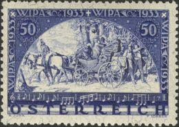 Austria. MH *Yv 430a. 1933. 50 G + 50 G Azul. CON HILOS DE SEDA. MAGNIFICO. Yvert 2011: 500 Euros. - Austria