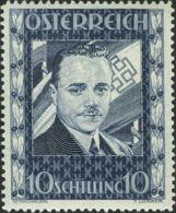Austria. MNH **Yv 484Yv . 1936. 10 S. Azul. MAGNIFICO Y RARO. Yvert 2011: 1.500 Euros. - Austria