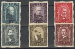 Austria. MNH **Yv 420/25. 1932. Serie Completa. MAGNIFICA. Yvert 2011: 340 Euros. - Austria