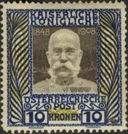Austria. MH *Yv 117. 1910. 10 Kronen. MAGNIFICO. Yvert 2011: 275 Euros. - Austria