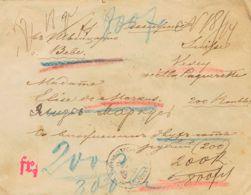 Rusia. Sobre Yv . 1897. Valor Declarado Dirigido A VEVEY (SUIZA). En El Frente Diversas Anotaciones Y Cifras Manuscritas - Unclassified