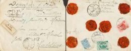 Rusia. Sobre Yv 66, 78, 82. 1913. 7 K Azul, 3 K Rosa Y 14 K Verde, Franqueados Al Dorso. Valor Declarado De SMOLENSK A H - Unclassified