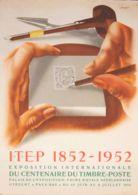 Holanda, Bibliografía. 1952. Cartel Original De La Exposición Filatélica EXPOSITION INTERNACIONALE DU CENTENAIRE DU TIMB - Holanda