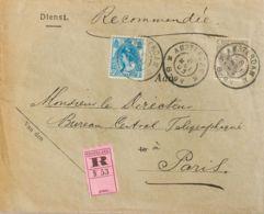 Holanda. Sobre Yv 53, 54. 1903. 10 Cts Gris Y 12 ½ Cts Azul. Certificado De AMSTERDAM A PARIS. MAGNIFICO. - Holanda
