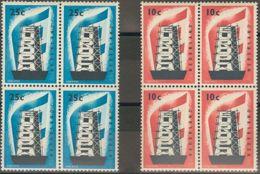Holanda. MNH **Yv 659/60. 1956. Serie Completa, En Bloque De Cuatro. MAGNIFICO. Yvert 2012: 280 Euros. - ...-1852 Voorlopers