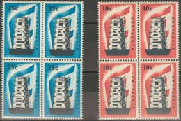 Holanda. MNH **Yv 659/60. 1956. Serie Completa, En Bloque De Cuatro. MAGNIFICO. Yvert 2012: 280 Euros. - Holanda