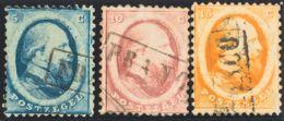 Holanda. ºYv 4/6. 1864. Serie Completa. MAGNIFICA. Yvert 2012: 157,5 Euros. - Holanda