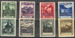 Liechtenstein, Servicio. MH *Yv 1/8Yv . 1932. Serie Completa. MAGNIFICA. Yvert 2014: 450 Euros. - Liechtenstein