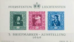Liechtenstein, Hoja Bloque. MNH **Yv 8. 1949. Hoja Bloque. MAGNIFICA. Yvert 2012: 160 Euros. - Liechtenstein