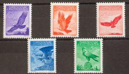 """Liechtenstein, Aéreo. MNH **Yv 9/13a. 1934. Serie Completa. Papel """"gaufre"""". MAGNIFICA. Yvert 2015: 275 Euros. - Liechtenstein"""
