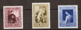 Liechtenstein. MNH **Yv 268/70. 1952. Serie Completa. MAGNIFICA. Yvert 2015: 140 Euros. - Liechtenstein