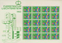 Liechtenstein. MNH **Yv 355(20). 1960. 50 Cts Multicolor, Minihoja De Veinte Sellos. MAGNIFICA Y RARA. Yvert 2016: 2.400 - Liechtenstein