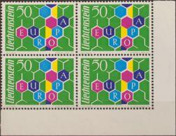 Liechtenstein. MNH **Yv 355(4). 1960. 50 R Multicolor, Bloque De Cuatro. MAGNIFICO. Yvert 2016: 480 Euros. - Liechtenstein