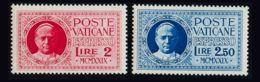 Vaticano, Urgente. MNH **Yv 1/2. 1929. Serie Completa. MAGNIFICA. Yvert 2016: 150 Euros. - Vaticano (Ciudad Del)