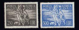 Vaticano, Aéreo. MNH **Yv 16/17. 1948. Serie Completa. MAGNIFICA. Yvert 2016: 750 Euros. - Vaticano (Ciudad Del)
