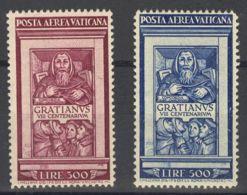 Vaticano, Aéreo. MNH **Yv 20/21. 1951. Serie Completa. MAGNIFICA. Yvert 2013: 500 Euros. - Vaticano (Ciudad Del)