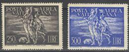 Vaticano, Aéreo. MNH **Yv 16/17. 1948. Serie Completa. MAGNIFICA. Yvert 2013: 774 Euros. - Vaticano (Ciudad Del)