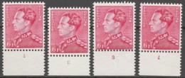 Belgie  .   OBP  .  848  4x   . Planche 1/4      .    **    .       Postfris  .   /   .    Neuf SANS Charniere - Unused Stamps