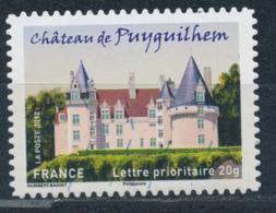 France - Châteaux Et Demeures II (Puyguilhem) YT A728 Obl. Cachet Rond Manuel - Francia